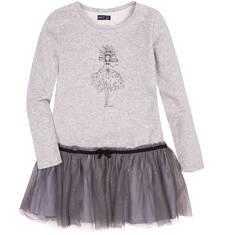 Endo - Sukienka z tiulową falbaną dla dziewczynki 9-13 lat D72H564_1