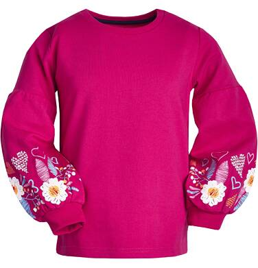 Bluza z długim rękawem dla dziewczynki 9-13 lat D82C528_2