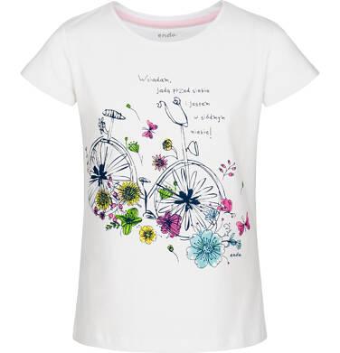 T-shirt z krótkim rękawem dla dziewczynki 9-13 lat D91G637_1