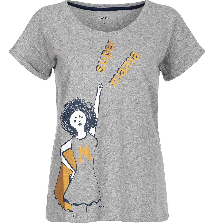 """Endo - """"Super mama"""" T-shirt damski z krótkim rękawem Y82G014_1"""