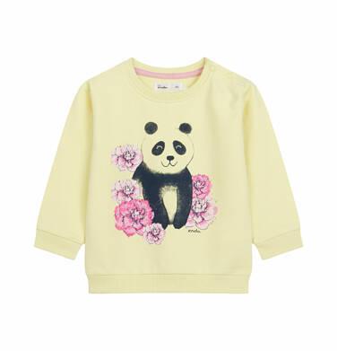 Endo - Bluza dla dziecka do 2 lat, panda w kwiatach, żółta N03C002_1