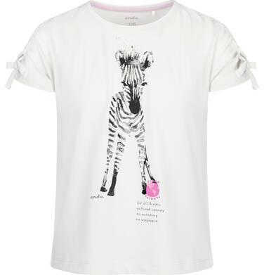 Endo - Bluzka z krótkim rękawem dla dziewczynki, z zebrą, porcelanowa, 2-8 lat D03G104_1 87