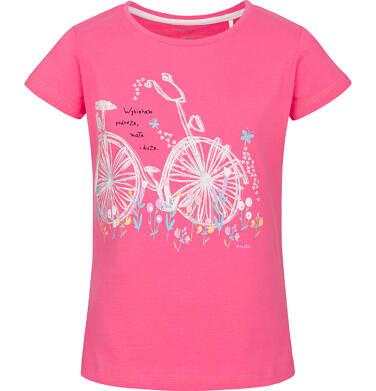 T-shirt z krótkim rękawem dla dziewczynki 3-8 lat D91G139_1