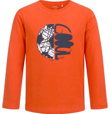 T-shirt z długim rękawem dla chłopca, z piłką, pomarańczowy, 2-8 lat C04G019_1