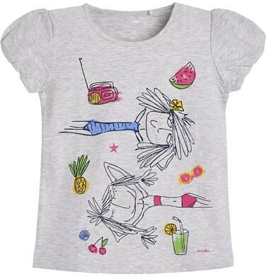 Endo - T-shirt z krótkim rękawem dla dziewczynki 9-13 lat D81G625_1