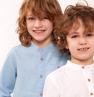 Koszula z długim rękawem dla chłopca 9-13 lat C91F504_1