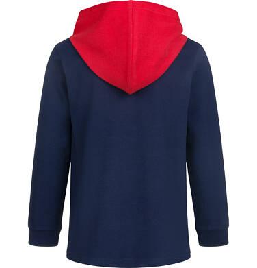 Endo - Bluza dla chłopca z kontrastowym kapturem, granatowa, 2-8 lat C03C008_1,2