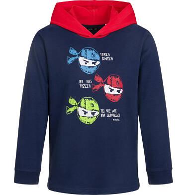 Endo - Bluza dla chłopca z kontrastowym kapturem, granatowa, 9-13 lat C03C508_1