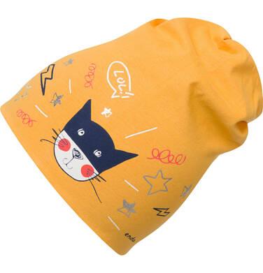 Endo - Czpka dla dziecka, z kotem, żółta D03R022_1 175