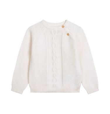 Endo - Sweter dla dziecka do 2 lat, kremowy N04B002_1 34