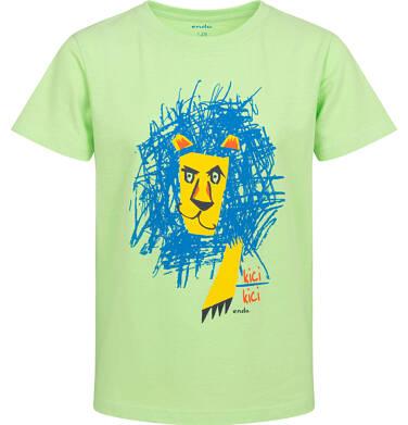 Endo - T-shirt z krótkim rękawem dla chłopca, z lwem, zielony, 2-8 lat C05G159_2 1