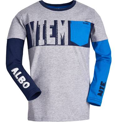 """Endo - """"Wiem albo nie"""" T-shirt z długim rękawem dla chłopca 3-8 lat C82G017_3"""