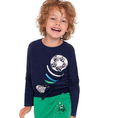 Endo - T-shirt z długim rękawem dla chłopca, z piłką, czarny, 2-8 lat C04G026_1 15