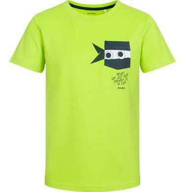Endo - T-shirt z krótkim rękawem dla chłopca, z zabawną kieszenią ninja, limonkowy, 9-13 lat C03G524_2