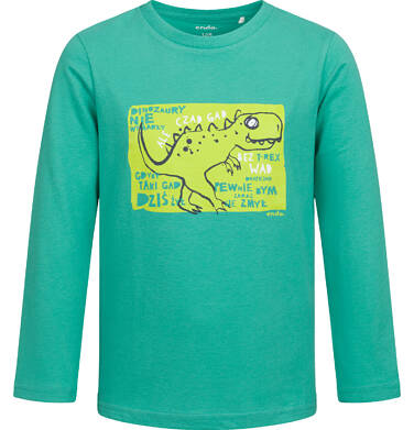 T-shirt z długim rękawem dla chłopca, z dinozaurem, zielony, 2-8 lat C04G118_1