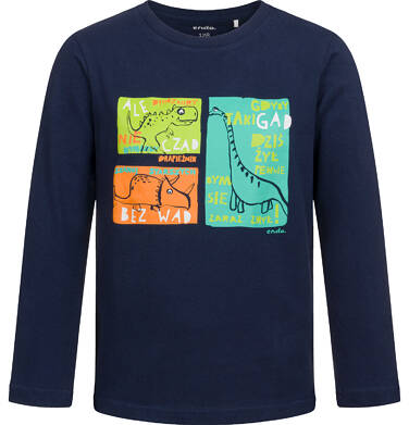 Endo - T-shirt z długim rękawem dla chłopca, w dinozaury, czarny, 2-8 lat C04G121_1 35