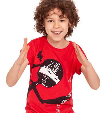 Endo - T-shirt z krótkim rękawem dla chłopca, ninja pomaga, czerwony, 2-8 lat C03G029_1