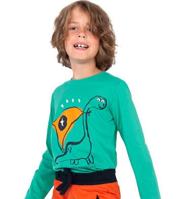 Endo - T-shirt z długim rękawem dla chłopca, z dinozaurem, zielony, 2-8 lat C04G122_1 24