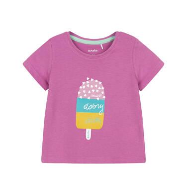 T-shirt z krótkim rękawem dla dziecka 0-3 lata N91G031_1