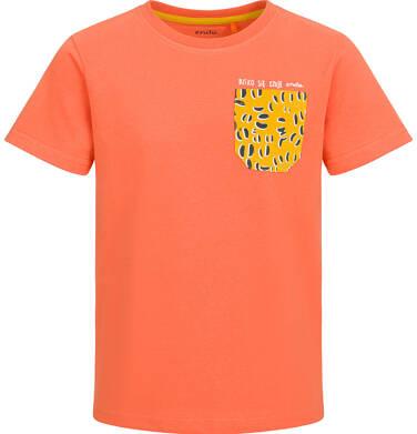 Endo - T-shirt z krótkim rękawem dla chłopca, z kieszonką, pomarańczowy, 9-13 lat C03G502_1