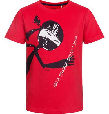 T-shirt z krótkim rękawem dla chłopca, ninja pomaga, czerwony, 9-13 lat C03G529_1