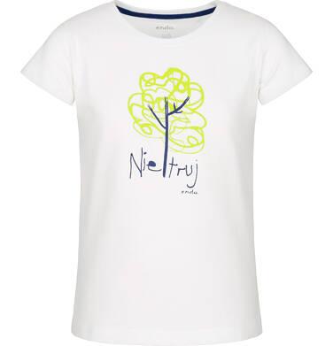 T-shirt z krótkim rękawem dla dziewczynki 3-8 lat D91G157_1