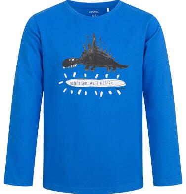 Endo - T-shirt z długim rękawem dla chłopca, z dinozaurem, niebieski, 2-8 lat C04G125_1 2