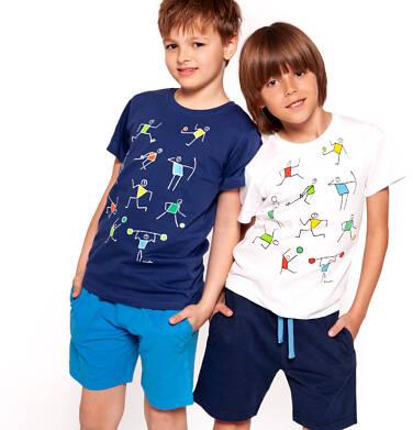 Endo - Krótkie spodenki dresowe dla chłopca 3-8 lat C91K010_3