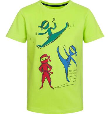 Endo - T-shirt z krótkim rękawem dla chłopca, drużyna ninja, limonkowy, 2-8 lat C03G030_2 283