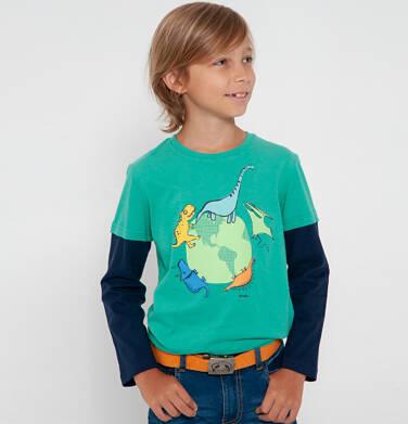 Endo - T-shirt z długim rękawem dla chłopca, z kulą ziemską, zielony, 2-8 lat C04G129_1 21