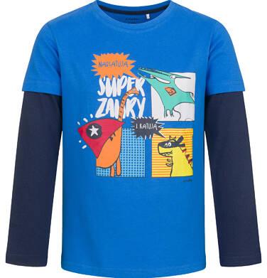 T-shirt z długim rękawem dla chłopca, z dinozaurami, niebieski, 2-8 lat C04G131_1