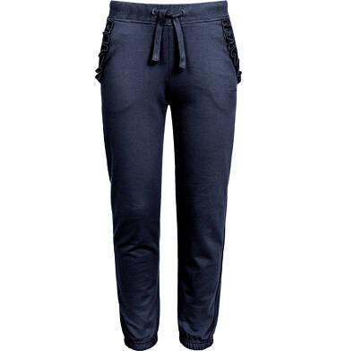 Endo - Spodnie dresowe dla dziewczynki, granatowe, 3-8 lat D92K013_2