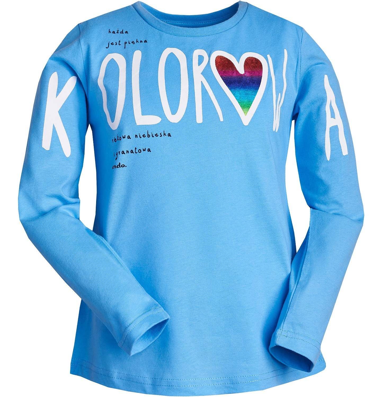 Endo - Kolorowa, Bluzka z długim rękawem dla dziewczynki 3-8 lat D82G119_1