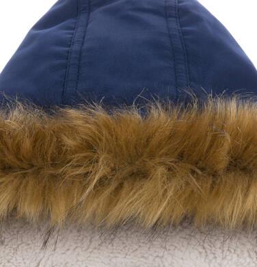 Endo - Długa kurtka parka zimowa z kapturem, ciemnogranatowa, 9-13 lat C04A002_1,4