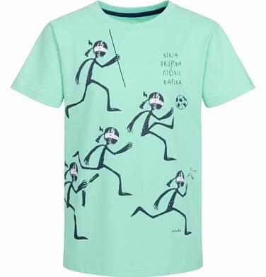 T-shirt z krótkim rękawem dla chłopca, drużyna ninja, miętowy, 2-8 lat C03G032_1