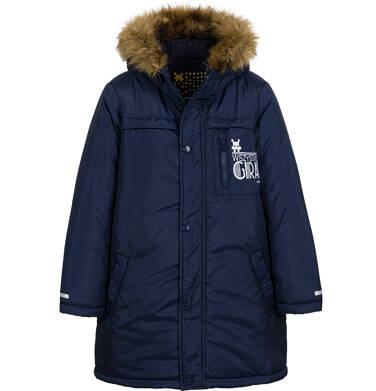 Endo - Długa kurtka parka zimowa z kapturem, granatowa, 9-13 lat C04A005_1 2
