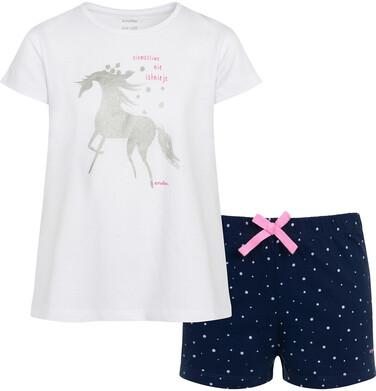 Endo - Piżama z krótkim rękawem dla dziewczynki, z jednorożcem, z napisem niemożliwe nie istnieje, biała, 2-8 lat D05V002_1 3