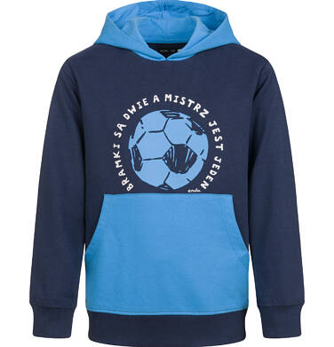 Endo - Bluza z kapturem dla chłopca, z piłką, granatowa, 4-8 lat C03C031_1 8