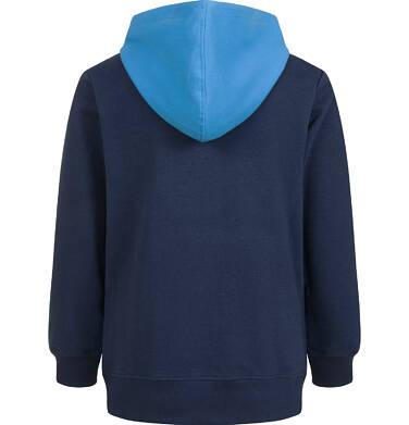 Endo - Bluza z kapturem dla chłopca, z piłką, granatowa, 4-8 lat C03C031_1,2