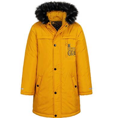 Endo - Długa kurtka parka zimowa z kapturem, musztardowa, 9-13 lat C04A005_2 3