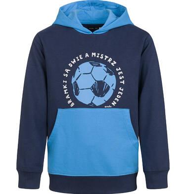 Endo - Bluza z kapturem dla chłopca, z piłką, granatowa, 9-13 lat C03C531_1,1