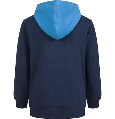 Endo - Bluza z kapturem dla chłopca, z piłką, granatowa, 9-13 lat C03C531_1,2