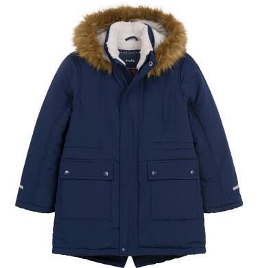 Długa kurtka parka zimowa z kapturem, ciemnogranatowa, 2-8 lat C04A012_1