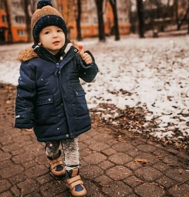 Endo - Długa kurtka parka zimowa z kapturem, ciemnogranatowa, 2-8 lat C04A012_1 21