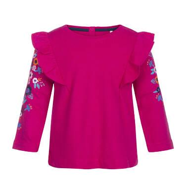 T-shirt z długim rękawem dla dziecka 0-3 lata N82G038_1
