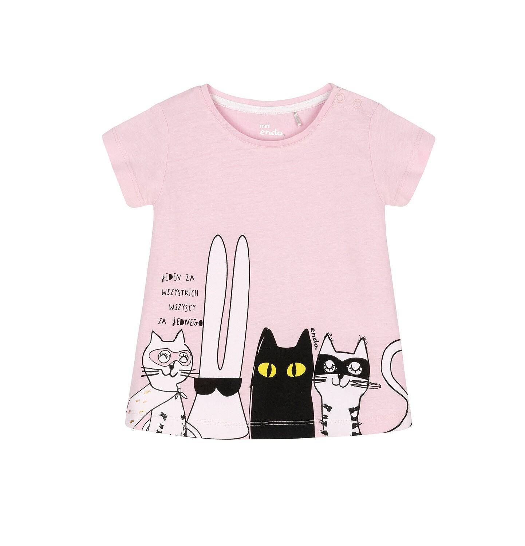 Endo - T-shirt z krótkim rękawem dla dziecka 0-3 lata N91G052_1