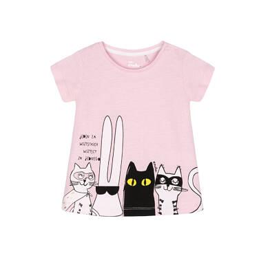 T-shirt z krótkim rękawem dla dziecka 0-3 lata N91G052_1