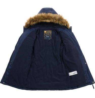 Endo - Długa kurtka parka zimowa z kapturem, granatowa, 2-8 lat C04A017_1 5