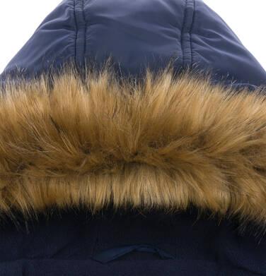 Endo - Długa kurtka parka zimowa z kapturem, granatowa, 2-8 lat C04A017_1,5