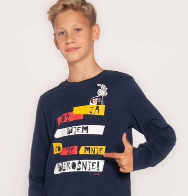 """Endo - """"Ja już wiem co ze mnie wyrośnie!"""" T-shirt z długim rękawem dla chłopca 3-8 lat C82G081_1"""